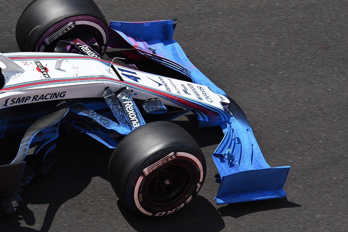 Alerón 2019 que Williams probó en los test de Hungría - SoyMotor