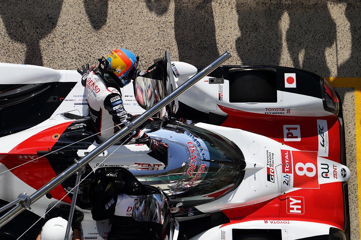 Fernando Alonso en el test de Le Mans - SoyMotor