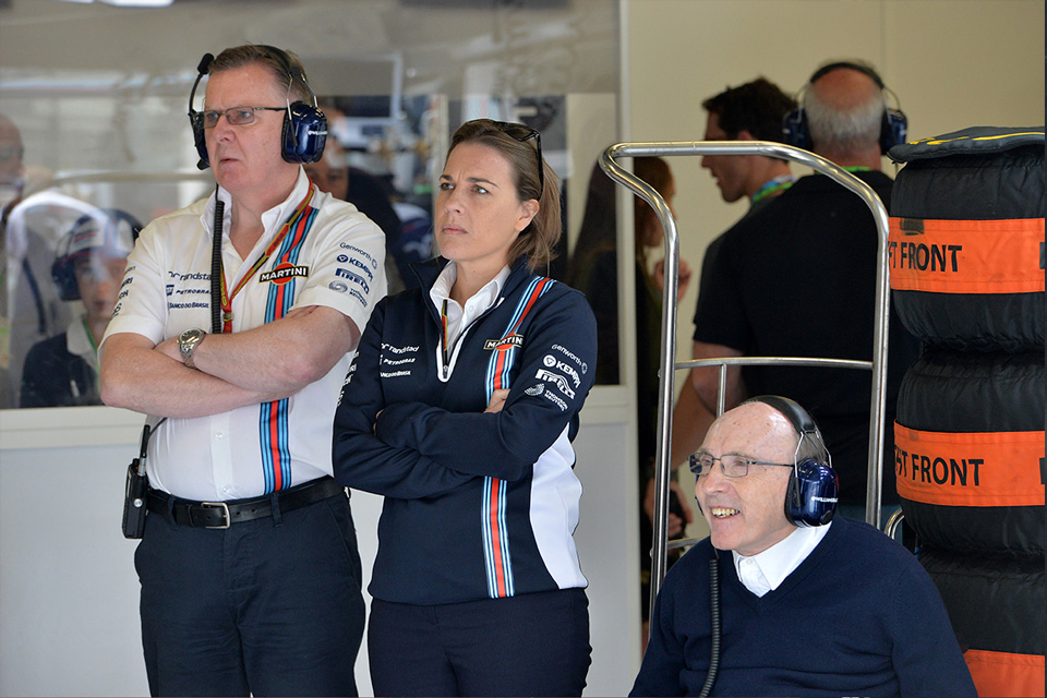 Mike O Driscoll, Claire y Frank Williams en Red Bull Ring - SoyMotor.com