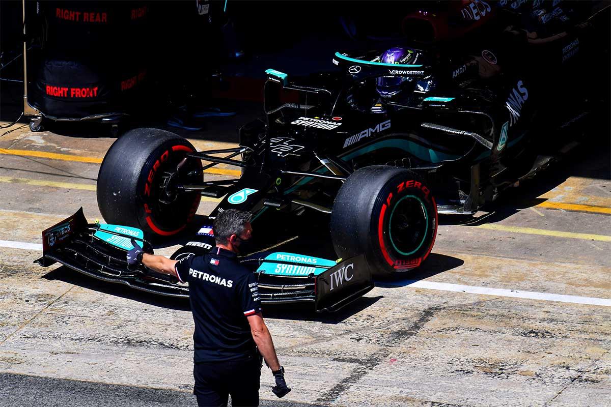 Lewis Hamilton en el GP de España F1 2021 - SoyMotor.com