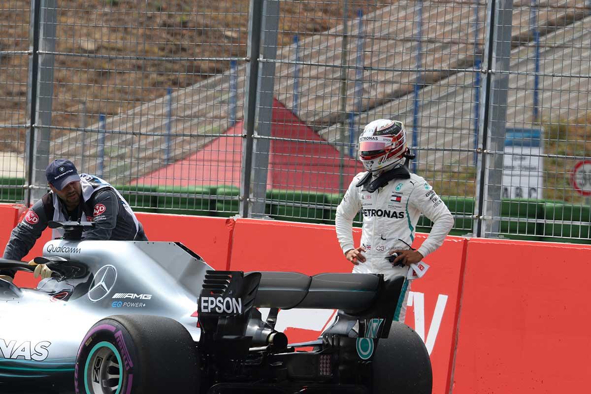 Lewis Hamilton tras su avería en la clasificación de Alemania - SoyMotor