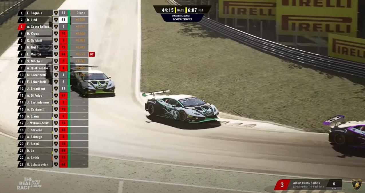 Albert Costa, tercero en el 'debut' de Lamborghini en los Esports; Rosaleny 19º