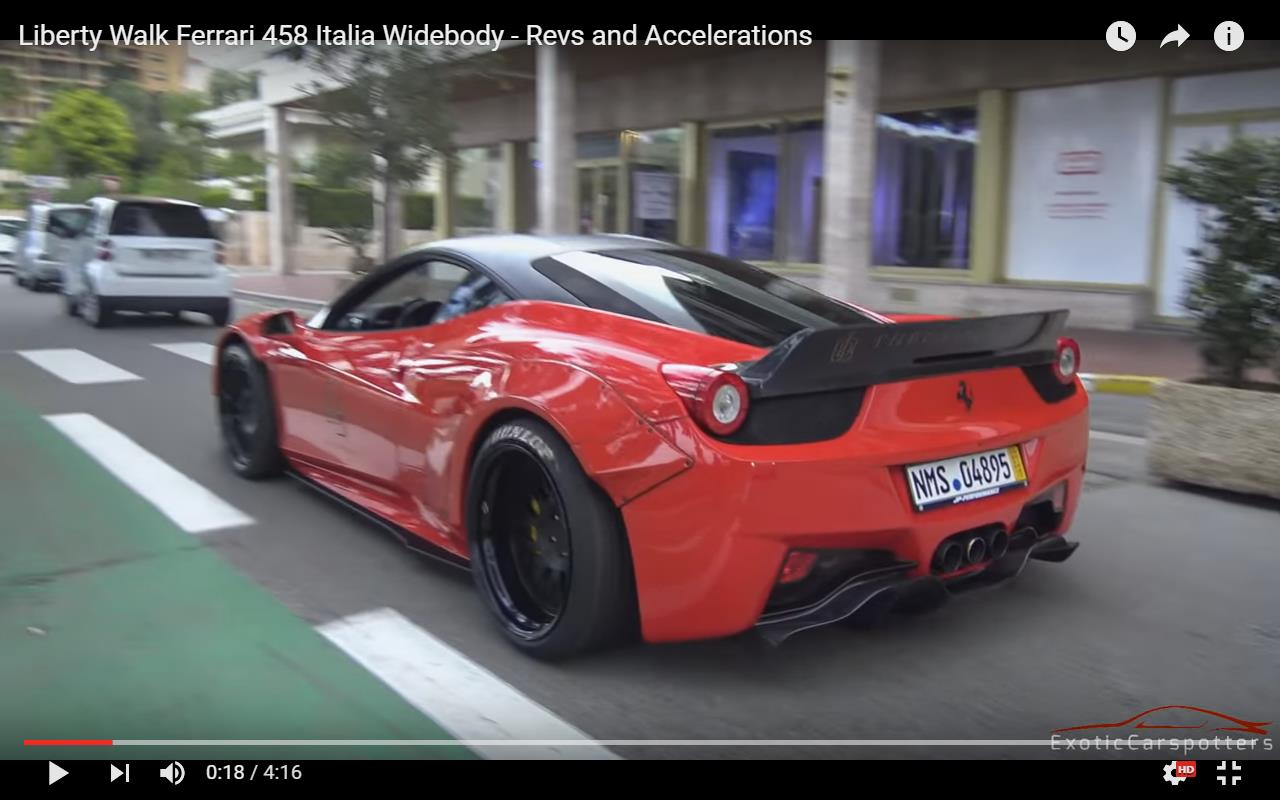 Espectacular Ferrari 458 Italia Liberty Walk Por Las Calles De Monaco Soymotor Com
