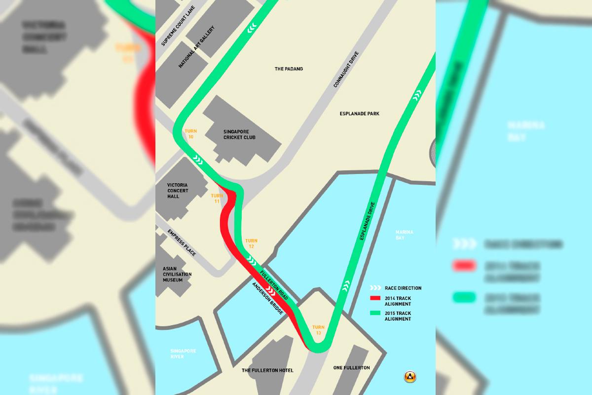 Circuito Singapur : Singapur hará cambios en las curvas 11 12 y 13 del marina bay