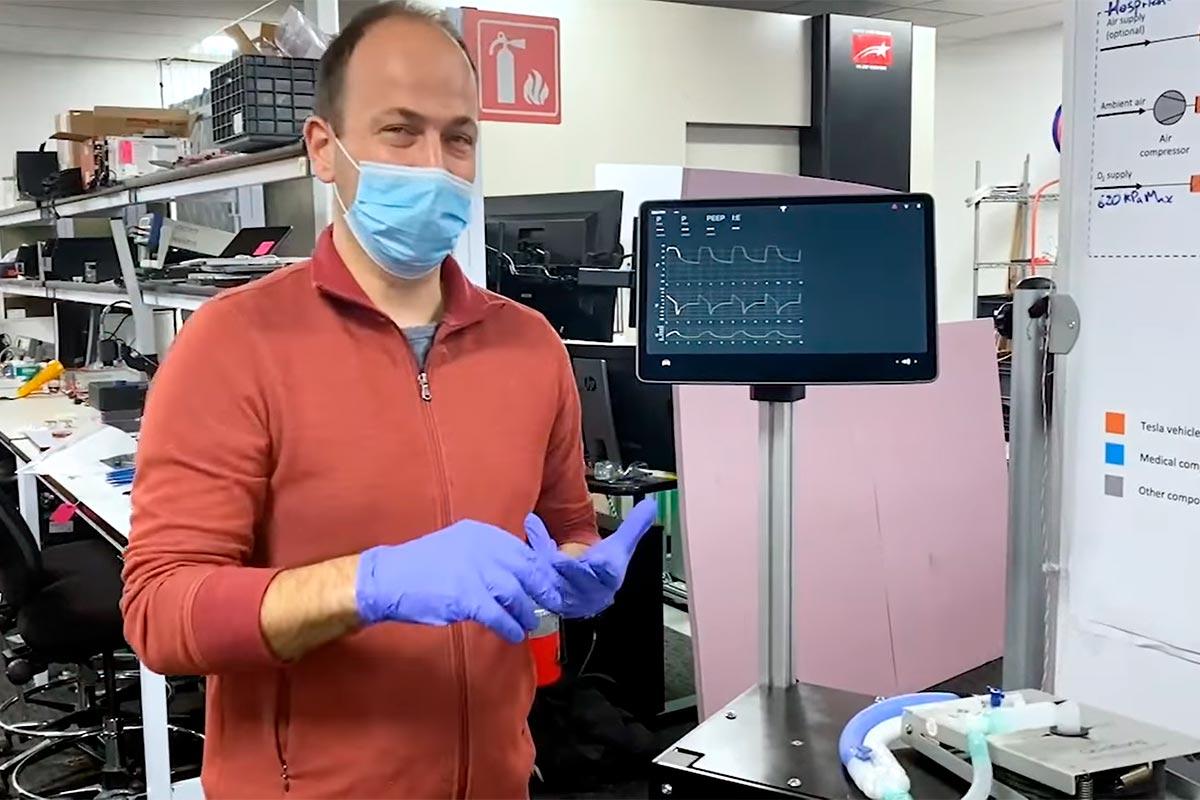 Tesla muestra el desarrollo de su propio respirador artificial