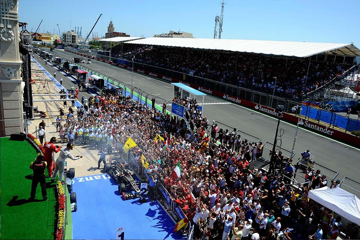 Circuito Urbano Valencia : A subasta los boxes de fórmula del circuito de valencia