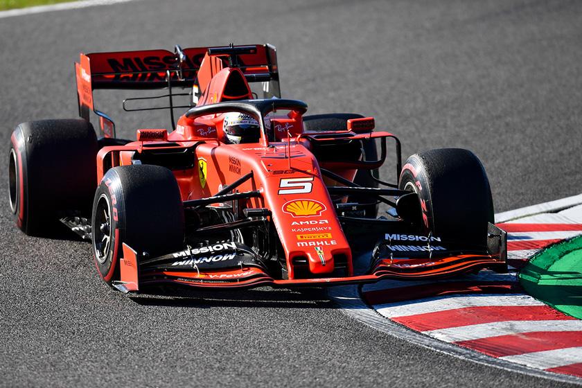 Vettel tiró de freno de mano en la salida de Japón