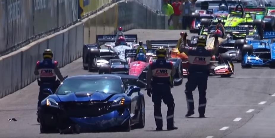 Situación en pista tras el accidente del pace car - SoyMotor.com