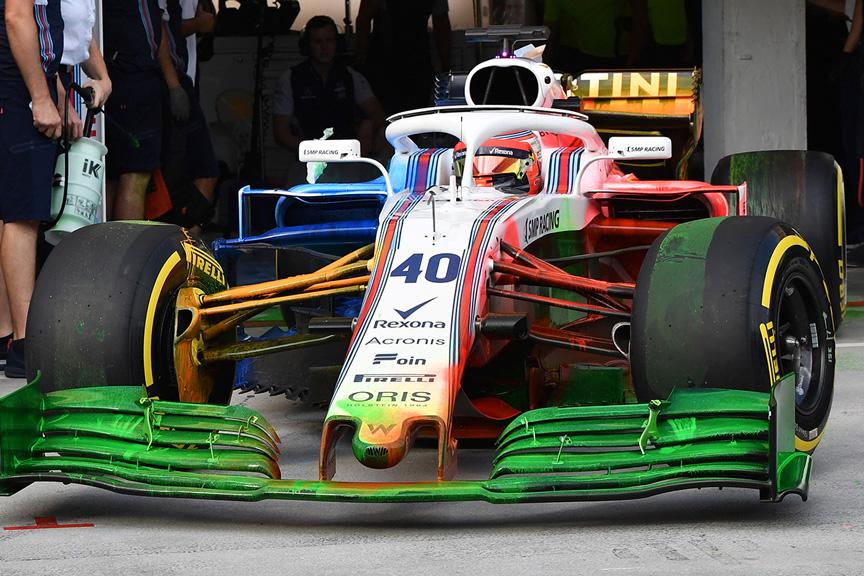 Parafina en el FW41 en Hungaroring - SoyMotor.com
