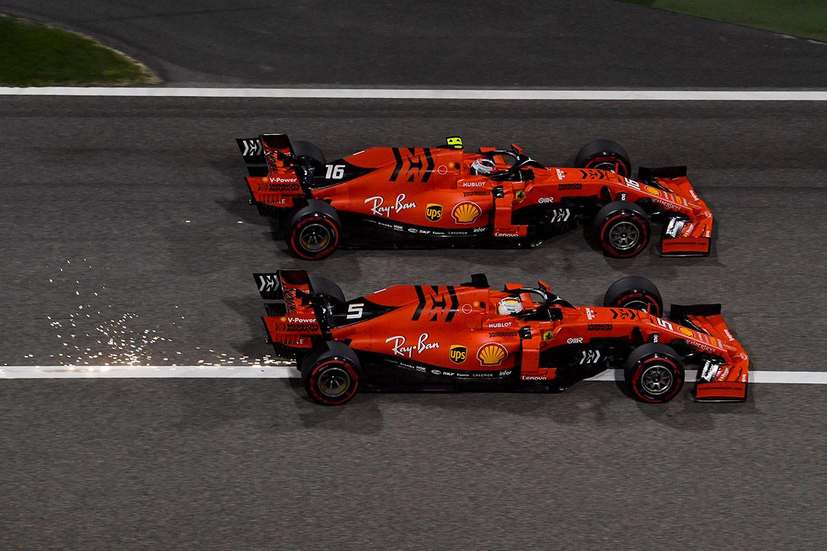 Sebastian Vettel y Charles Leclerc en GP de Baréin F1 - SoyMotor.com