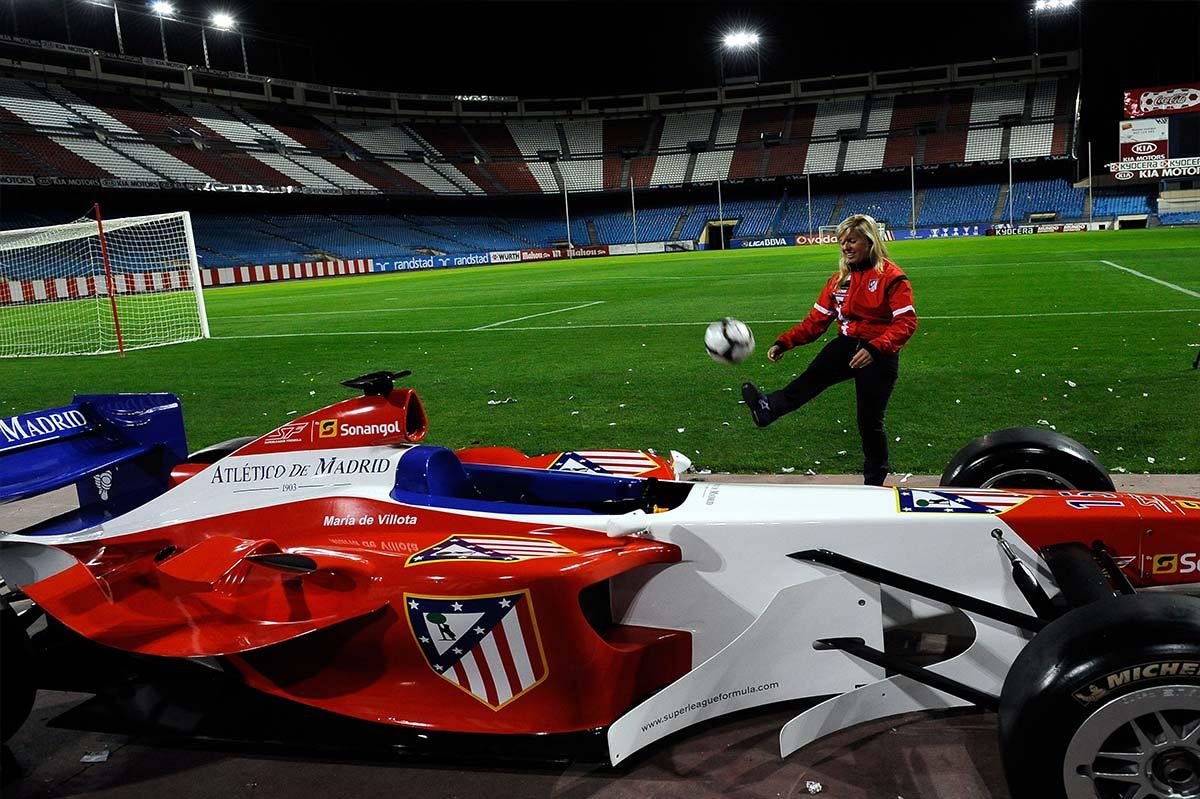 María de Villota, nombrada piloto del Atlético de Madrid para la Super League - SoyMotor.com