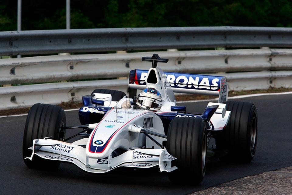 Nick Heidfeld con el BMW Sauber en Nordschleife en 2007 - SoyMotor.com
