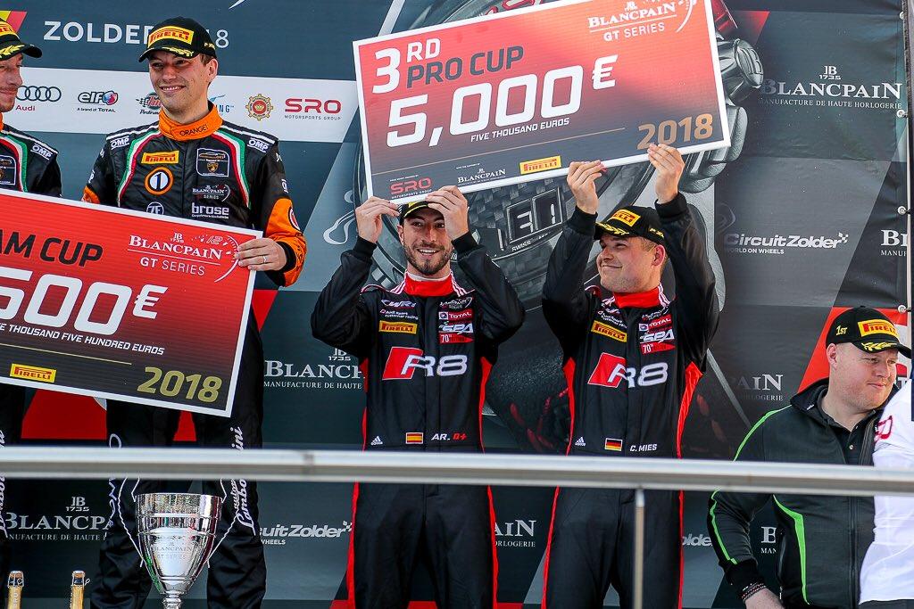 Álex Riberas en el podio - SoyMotor.com
