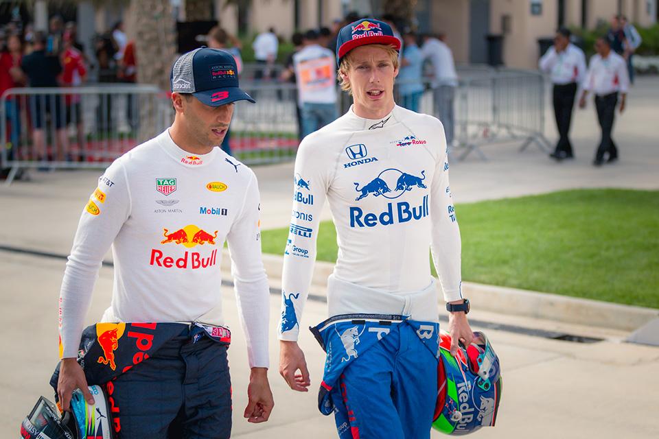 Daniel Ricciardo y Brendon Hartley en Baréin - SoyMotor.com