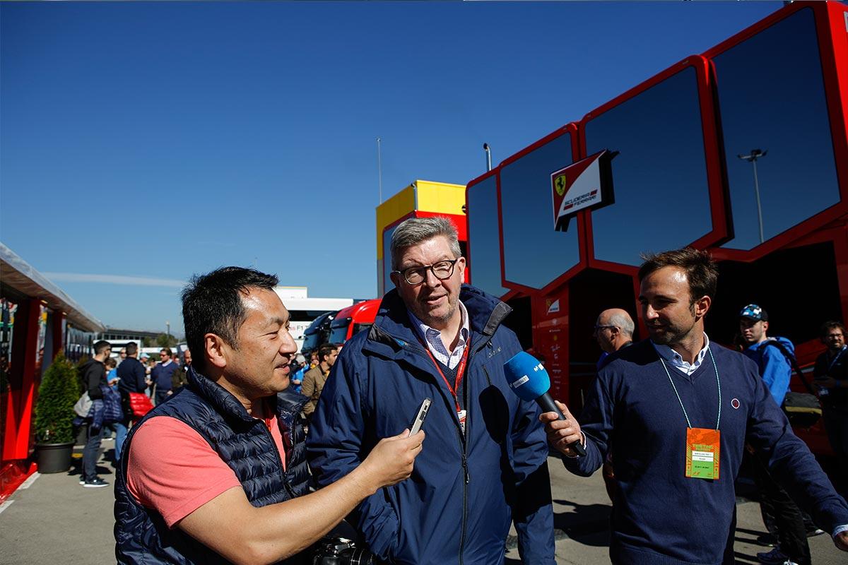 Ross Brawn en el paddock del Circuit de Barcelona-Catalunya - SoyMotor