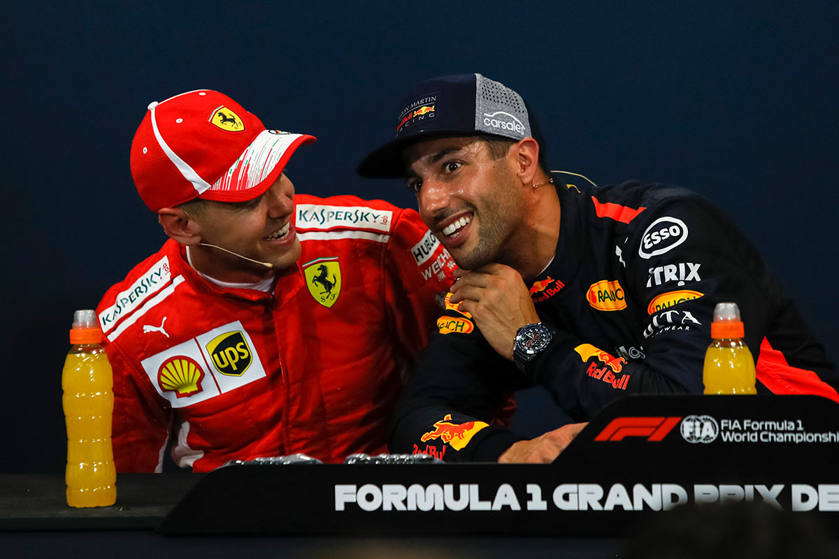 Sebastian Vettel y Daniel Ricciardo en una imagen de archivo - SoyMotor