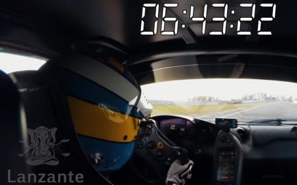 Lanzante ha compartido la vuelta on board del McLaren P1 LM en Nürbugring Nordschleife - SoyMotor