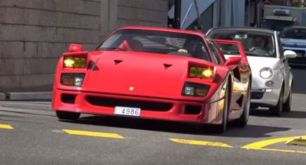 Las trompetas del Apocalipsis en Mónaco: un Ferrari F40 con escape recto - SoyMotor.com