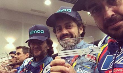 Victoria de Alonso en las 6 horas de karting de su circuito