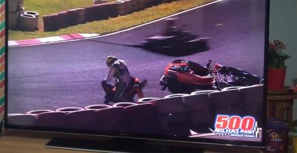 Pelea a puñetazos en una carrera de karts en Brasil
