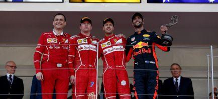 Vettel encabeza el doblete de Ferrari y es más líder; magnífico 6º para Sainz