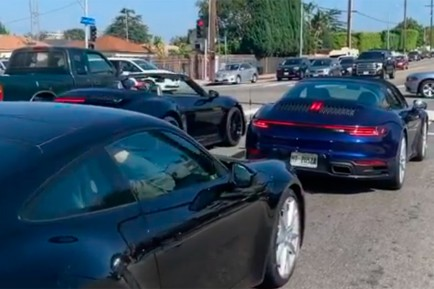 CAZADO: Un Porsche 911 992 Targa, avistado en California