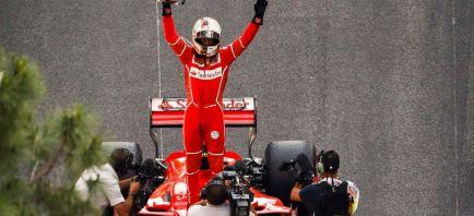 "3ª victoria del año para Vettel: ""Increíble, carrera intensa"""