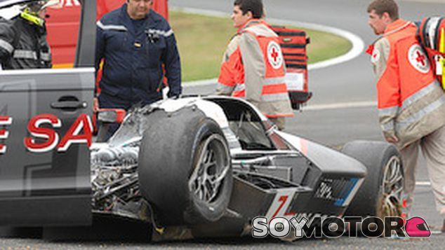 Así quedó el Peugeot 908 HDI de Marc Gené en Le Mans – SoyMotor.com