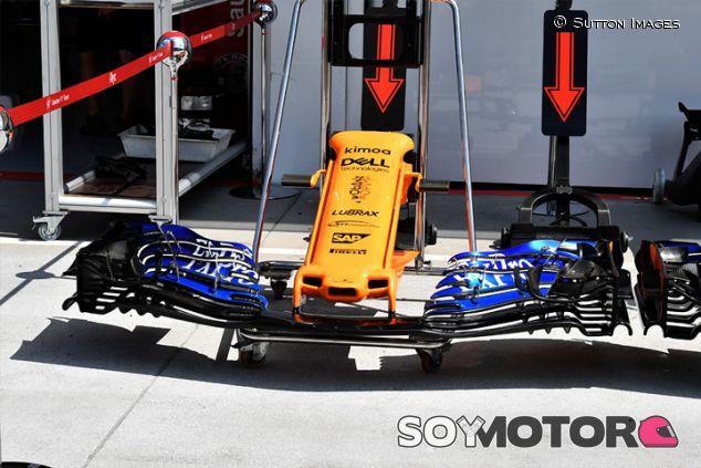 Alerón delantero del MCL33 en Hungaroring - SoyMotor.com