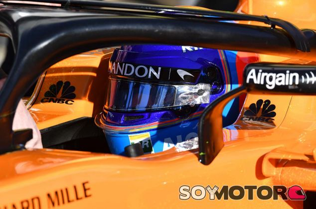 Fernando Alonso en Barcelona - SoyMotor.com