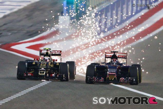 Maldonado y Verstappen en paralelo durante el GP de Baréin - LaF1