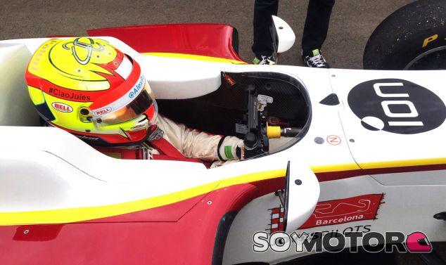 Este fin de semana he lucido un adhesivo en mi casco en recuerdo de Bianchi - LaF1