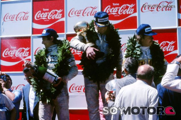 Podio del GP de Argentina de 1980 con Jones, Piquet y Rosberg –SoyMotor.com