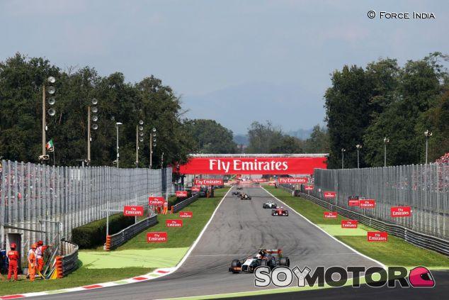 La Parabolica de Monza, asfaltada - LaF1