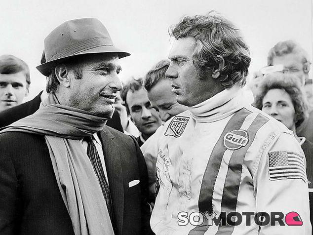 Fangio con Steve McQueen - LaF1
