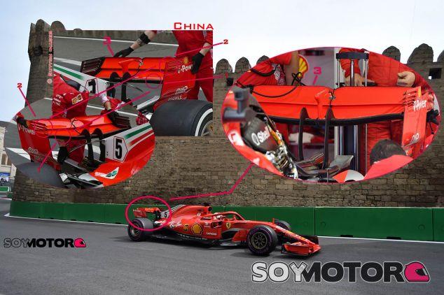 TÉCNICA: Las novedades del GP de Azerbaiyán F1 2018