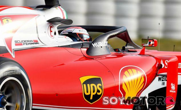 Test F1 en Barcelona: el halo protector de Ferrari