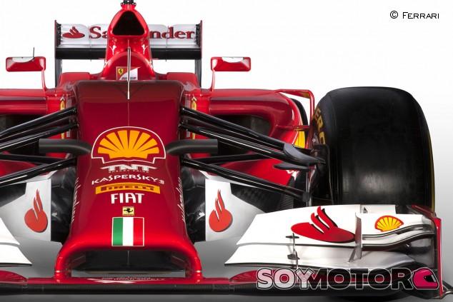 Primer plano del Ferrari F14 T - LaF1