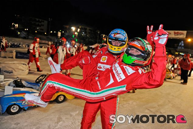 Fernando Alonso y Giancarlo Fisichella en el Wrooom - SoyMotor.com