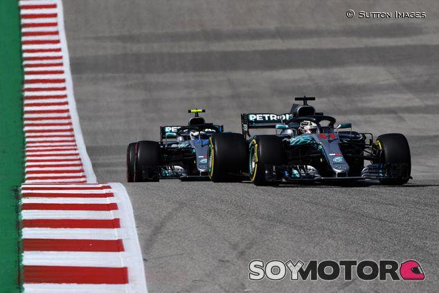 Lewis Hamilton y Valtteri Bottas en Austin - SoyMotor.com