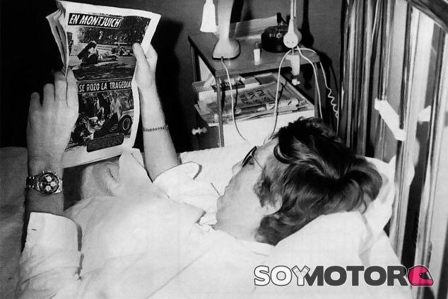 Jochen Rindt, en el hospital tras el accidente de Montjuic - LaF1