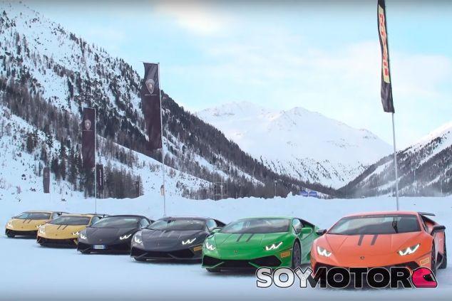 Lamborghini Winter Accademia: hielo, nieve… ¡y caballos! - SoyMotor.com