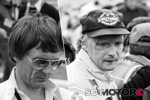 Niki Lauda y Bernie Ecclestone en el GP de Canadá de 1977, el último del austríaco con Brabham - LaF1