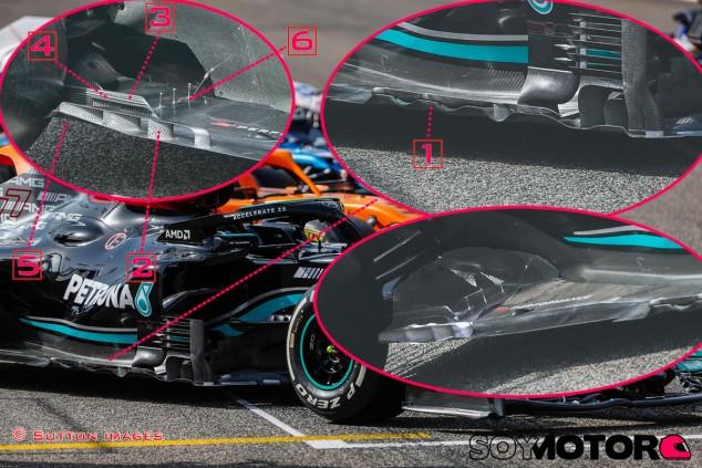 TÉCNICA: las novedades del primer día de test de F1 2021