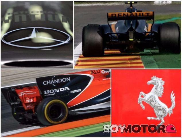 Los cuatro motoristas de la Fórmula 1 actual –SoyMotor.com