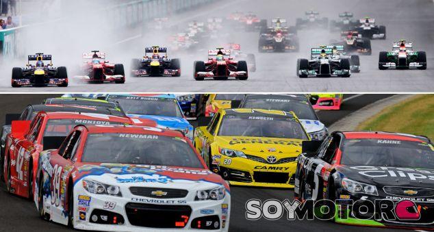 Salida del Gran Premio de Malasia de F1 2013 y carrera de NASCAR en Indianápolis