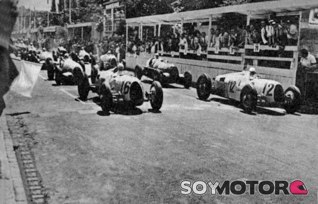 Salida del primer GP de Hungría en 1936 - LaF1