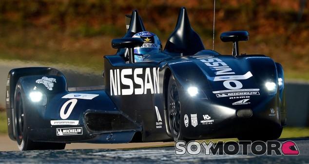 Lucas Ordóñez con el Nissan Deltawing