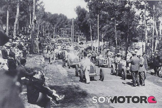 Parrilla de salida del Gran Premio de Antibes de 1928 - SoyMotor.com