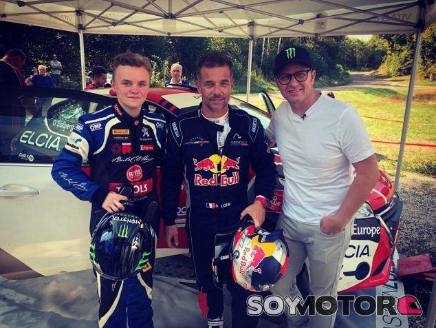 Oliver Solberg, Sébastien Loeb y Petter Solberg - SoyMotor.com